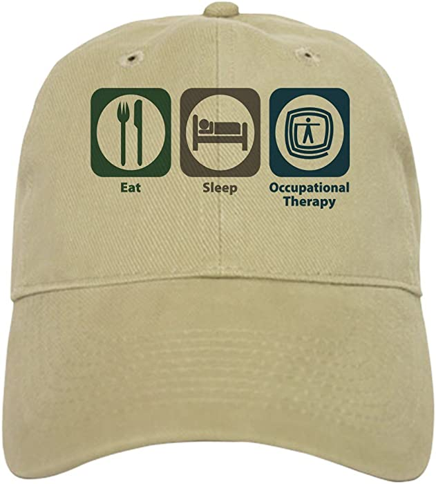 40159a7a42cf9 CafePress - Eat Sleep Occupational Therapy - Baseball Cap with Adjustable  Closure