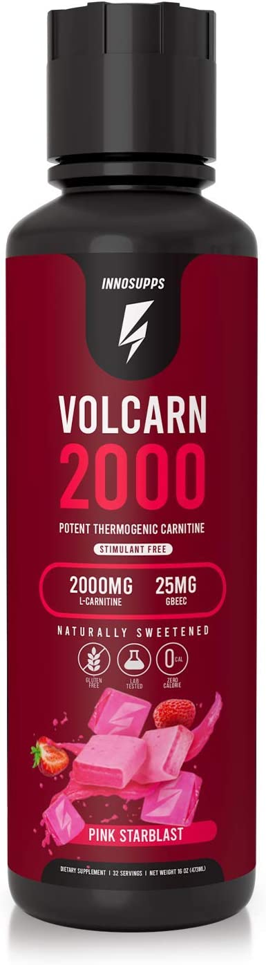 InnoSupps Volcarn 2000 - Liquid L-Carnitine, Boost Energy, Caffeine Free, No Artificial Sweeteners, 32 Servings (Pink Starblast): Health & Personal Care