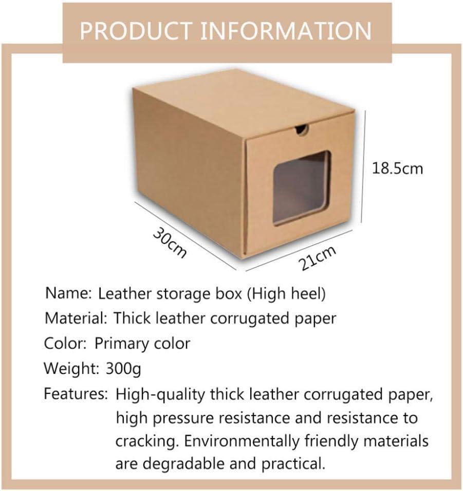 N/X cajón de cartón Transparente Caja de Zapatos receptáculo economía de Espacio Organizador de Almacenamiento Caja contenedor3pcs-_Zapatos de tacón Alto