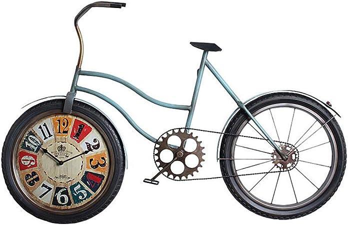 YFF-Reloj de Pared Reloj de Pared Bicicleta Creativa Arte de Hierro Reloj de Pared silencioso