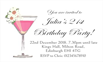 40 Personalised Magnetic Party Invitations
