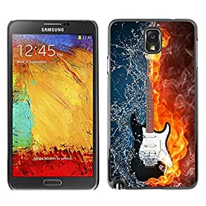 LOVE FOR Samsung Note 3 N9000 Water and fire guitar Personalized Design Custom DIY Case Cover