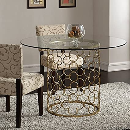 8fafcb18b7d0 Image Unavailable. Image not available for. Color  Quatrefoil Brush Gold  Dining Room Table