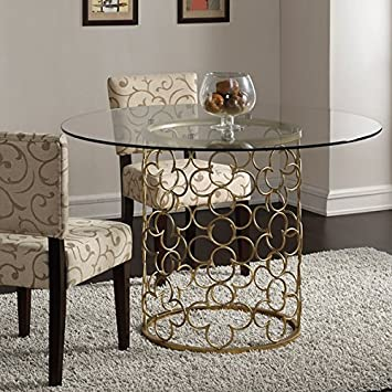 gold dining room table. quatrefoil brush gold dining room table n
