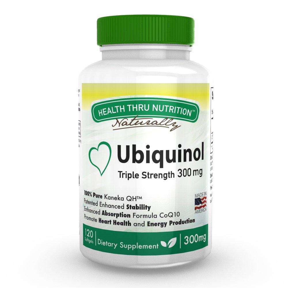 Ubiquinol 300mg 120 Softgels EAF CoQ10 (Enhanced Absorption Formula Coenzyme Q10 as Kaneka Ubiquinol) by Health Thru Nutrition (Image #1)