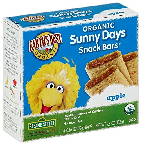Earth's Best Sesame Street Sunny Days Snack Bars - Apple - 5.3 oz