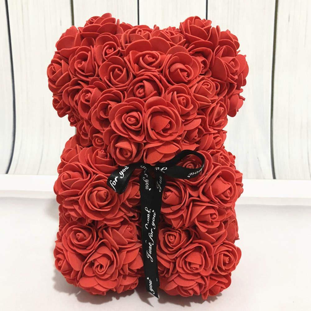 Rose Bear Toys Women Girls Flower Birthday Party Valentine Wedding Romantic Doll Gifts 2019 New Valentines Day Present Soap