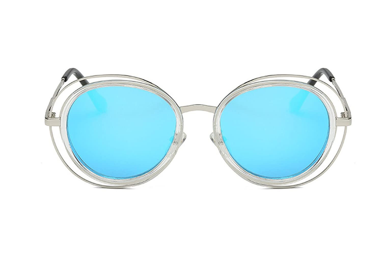 2018 Neue Doppelrahmen Hohlrahmen Design Große Rahmen Sonnenbrillen,Silver
