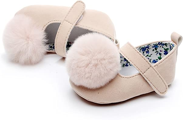HONGTEYA Bay Girls Suede Fur Ball Mary