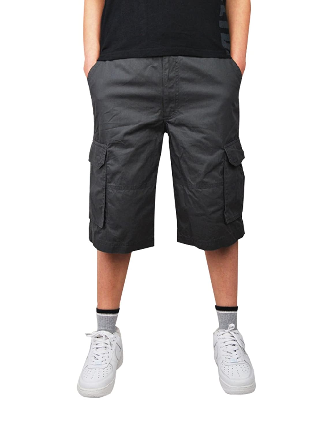 KINGDESON Mens Low-Rise Lace-Up Swimming Swimwear Brief Shorts Trunks Fifth Pants
