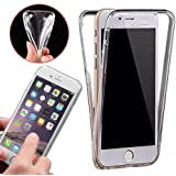 Front & Back Fully Protection Clear Gel Skin Case Cover iPhone 5 5S SE