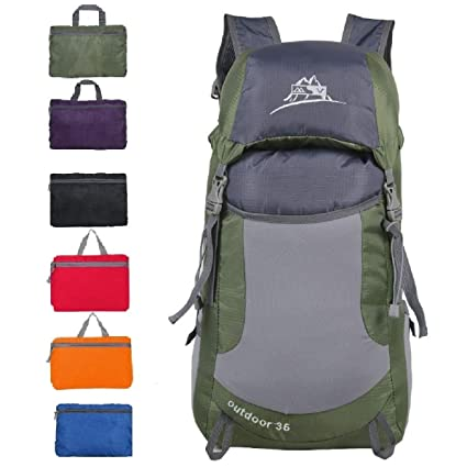 Luisport 35L Waterproof Foldable Hiking Backpacks for Women and Men Travel  Backpack for Girls and Boys Camping Backpacks Mini Backpacks Small Backpacks d420bd3063