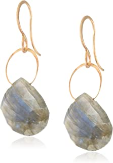 product image for Melissa Joy Manning 14k Gold Labradorite Single Drop Earrings