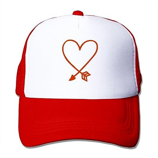 Amazon Com Valentines Day Arrow Heart Adult Sports Mash Cap Clothing