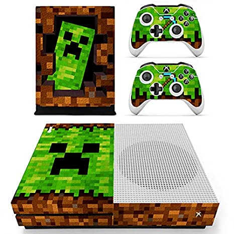 GADGETS WRAP Xbox ONE S Console Controller Minecraft Theme Printed