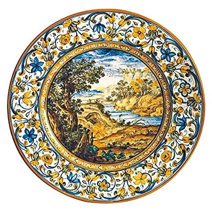 Piatto in ceramica artistica di Castelli Italia fatto e dipinto a ...