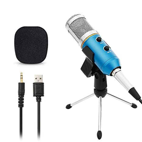 c63bd206c3cce Micrófono Condensador USB para Grabar Micrófonos PC con Soporte Trípode  Podcast Studio MIC Equipo de Sonido