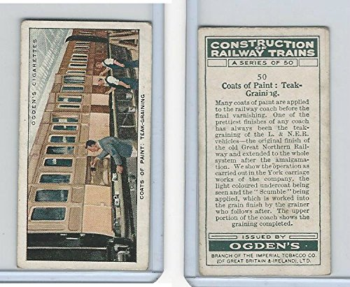 O2-140 Ogdens, Construction Trains, 1930, #50 Coats of Paint: Teak-Graining Teak Paint