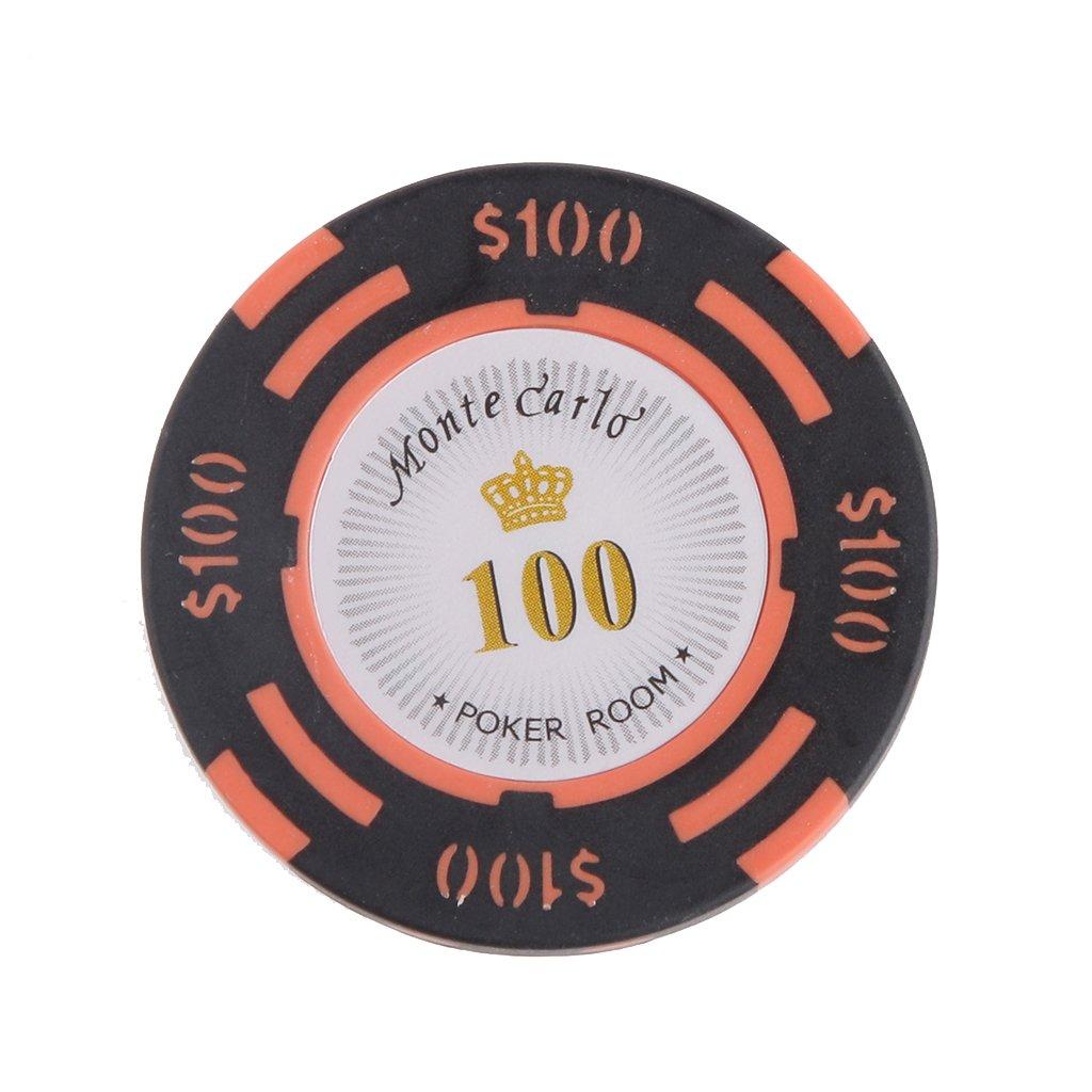 14g Ultimate Pokerset Pokerraum Label Casino-Chips Poker Chip Set Brettspiel - 10 Dollar, / Generic