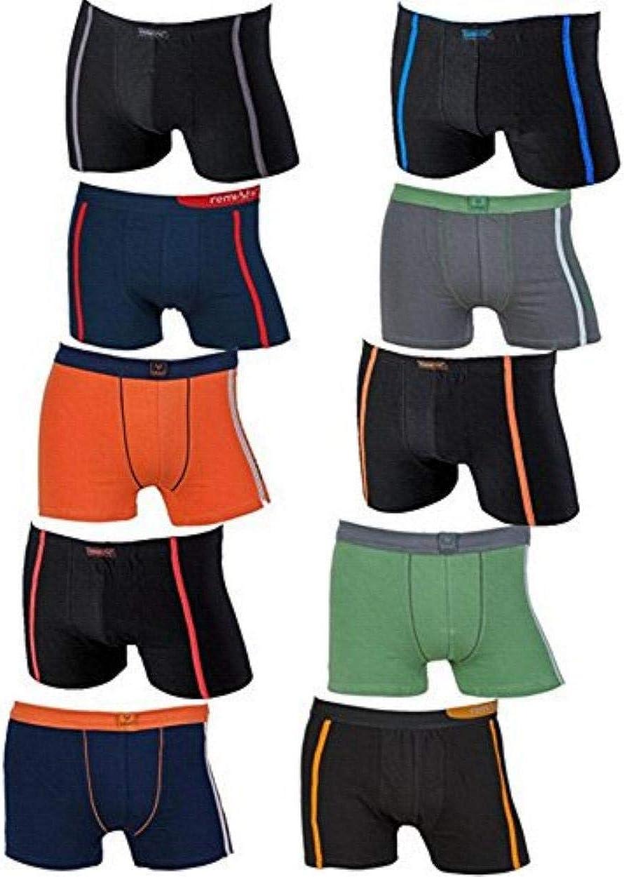 REMIXX - Pack de 10 calzoncillos tipo bóxer para hombre 10 ...