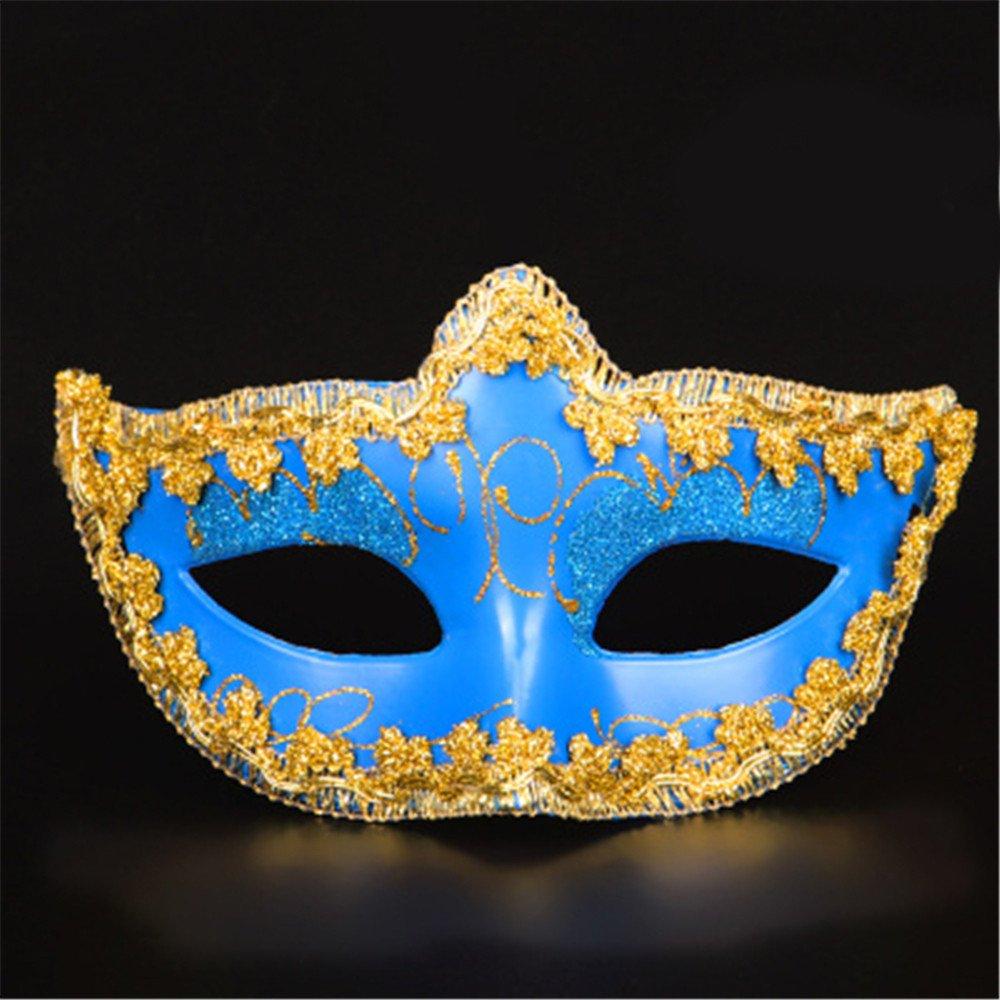 Halloween Maske Make-up Tanz Show Plating Scharfe Ecken Gehäuse Gemalte Masken,blau B0753FFFLG Masken für Erwachsene Eleganter Stil | Qualifizierte Herstellung