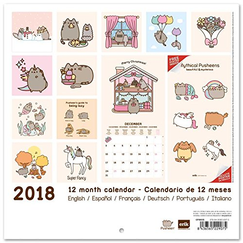 amazoncom grupo erik editores calendar 2018 30 x 30 pusheen the cat office products