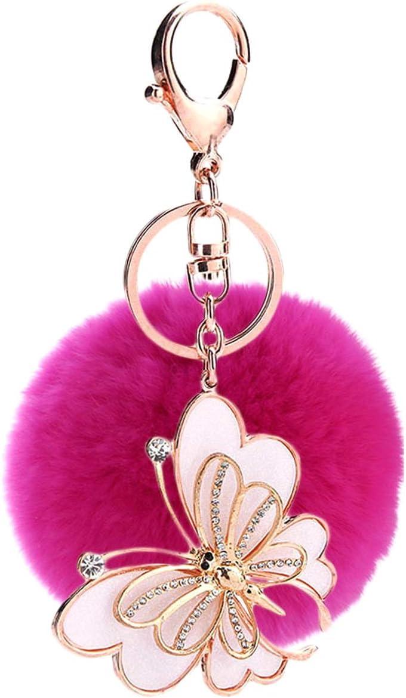 Ukerdo Peluche Ballon Papillon Porte-cl/és Sac /à Main Pendant Porte-cl/és Valentine Cadeau pour Femme