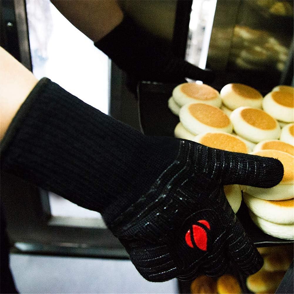 Schwei/ßen Schwarz Grill Kochen Backen XINTD Ofenhandschuhe Hitzebest/ändig Bis zu 500 /°C // 932 /°F Anti-Scalding Silikon Slip Grillhandschuhe f/ür BBQ 1 Paar