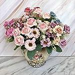 MARJON-FlowersWawer-Artificial-Flowers-Petals-Feel-and-Look-Like-Fresh-Western-Rose-Flower-Artificial-Vintage-Bridal-Bouquet-Perfect-for-WeddingPartyHomeOffice-Dcor-DIY-Hot-Pink