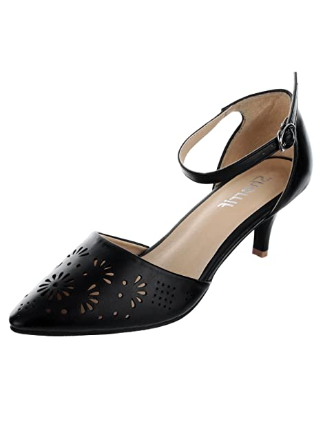 54e0b7463ee SHERRIF SHOES Kitten Heel Sandals  Buy Online at Low Prices in India ...