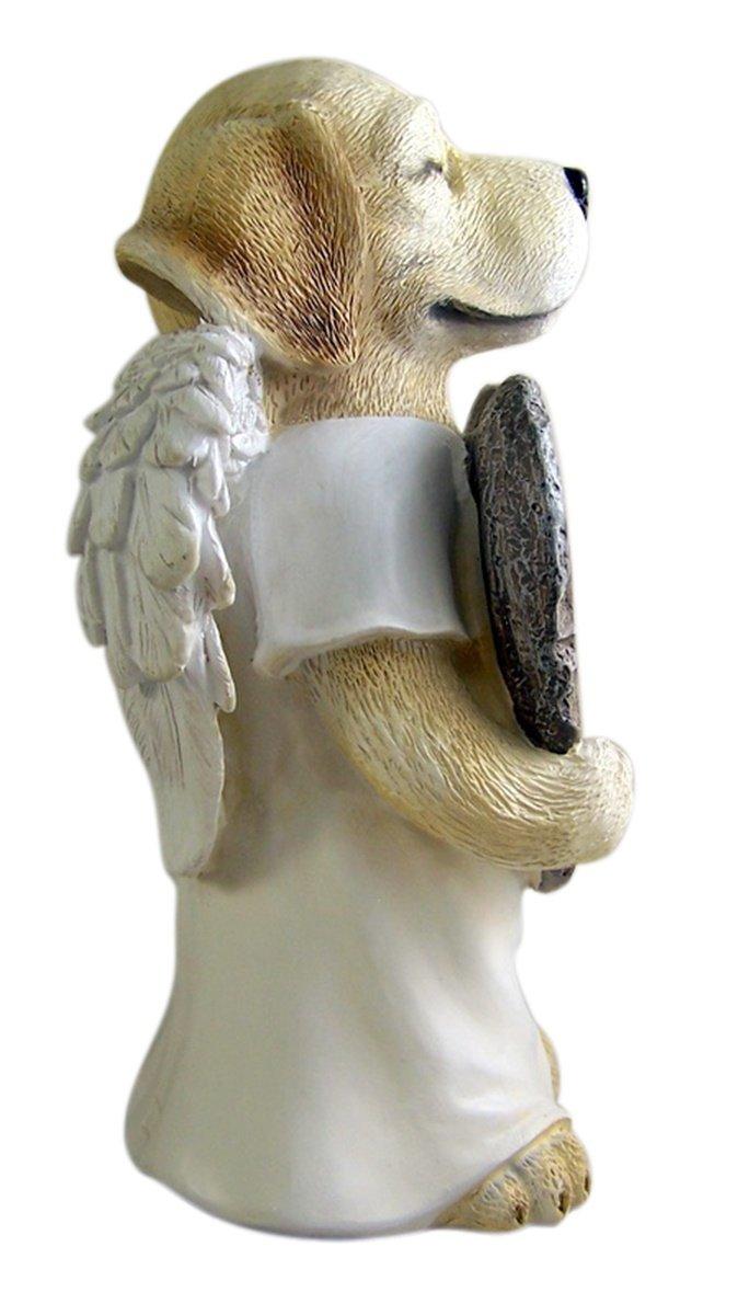 Resin Pet Dog With Angel Wings Memorial Garden Statue 10.75 Inch