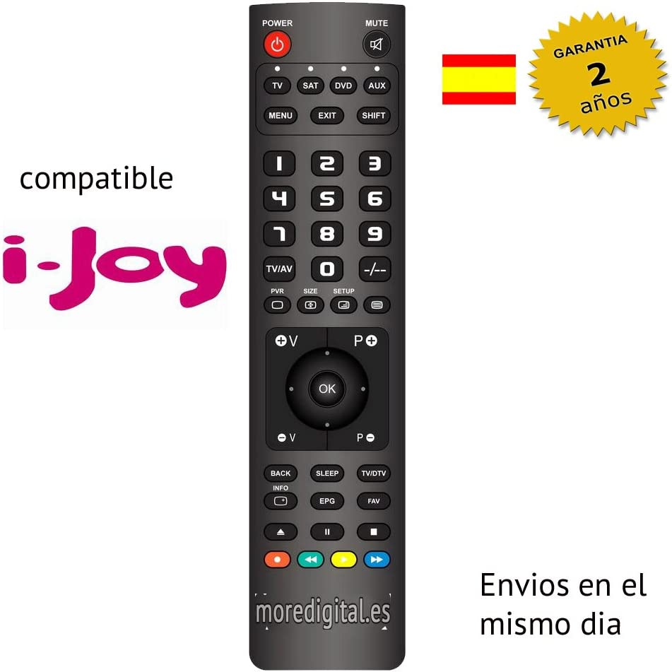 Mando a distancia Especifico para Television Tv ijoy i-joy: Amazon ...