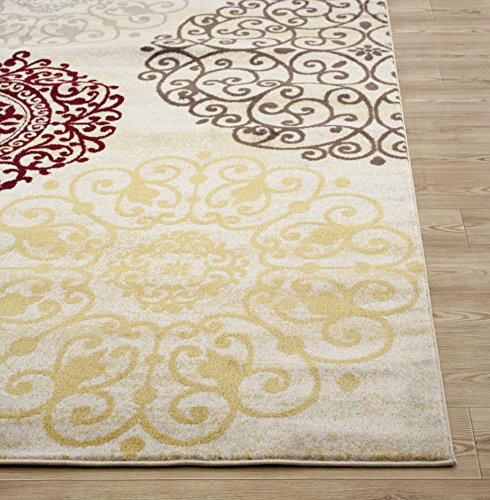 Rugshop Contemporary Modern Floral Indoor Soft Area Rug 3