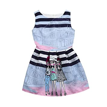 Girls Dresses For 5-12 Years,Internet Flower Children Kids Girls Princess Toddlers Floral