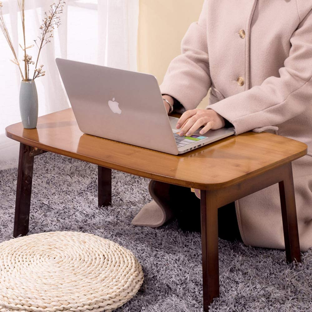 M-Y-L-Z Wood Folding Laptop Desk and Bed Tray Table Coffee Table,60cm