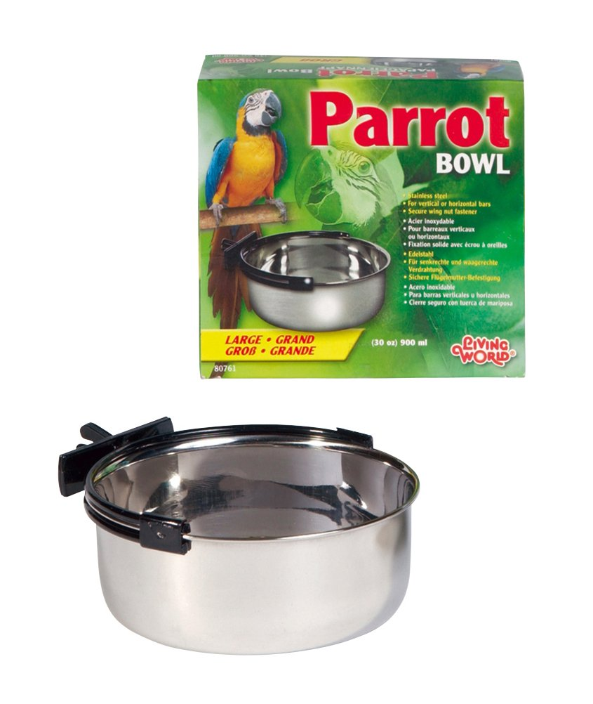 Living World Stainless Steel bowl, 30-Ounce
