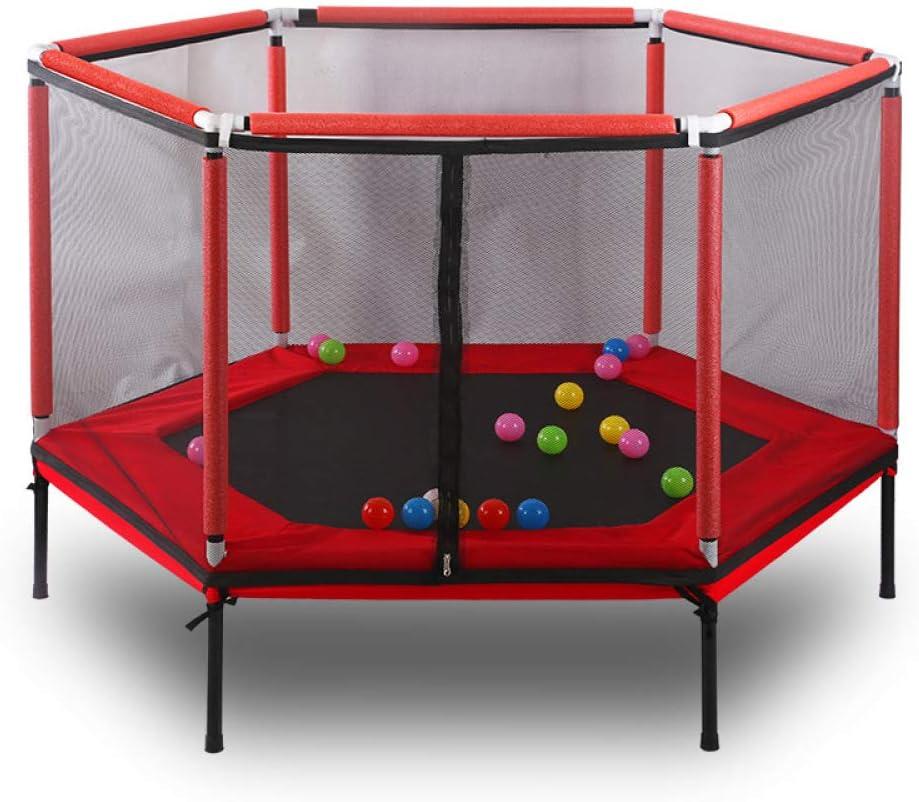 YXLONG Trampolin Infantil Poligono Estable con Red Seguridad Cama Elástica Portátil Múltiples Funciones Dos Colores