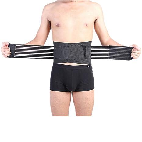 Cintura Trimmer Cinturón, Tmalltide ajustable y transpirable apoyo lumbar inferior de la espalda cinturón Brace