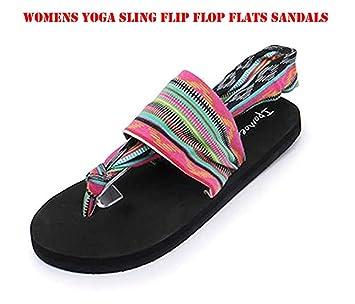b36379514e3867 Amazon.com  Happy Lily Slip On Yaga Slippers Toe Separators Shower ...