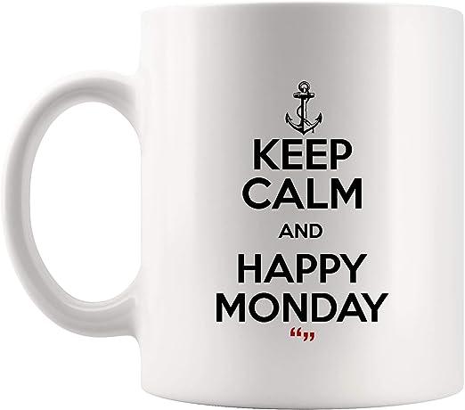 com keep calm happy monday coffee mug funny mugs