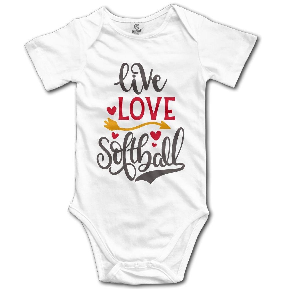 Midbeauty Live Love Softball Unisex Baby Sleeveless Bodysuit
