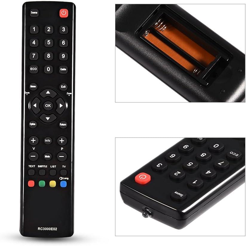 Vbestlife Reemplazo de Control Remoto para TCL RC3000E02 TV, Negro: Amazon.es: Electrónica