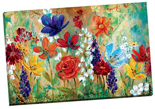 Portfolio Canvas Decor 'Wildflower Fresco I' by E. Franklin Wrapped and Stretched Canvas Wall Art, 24 x 36