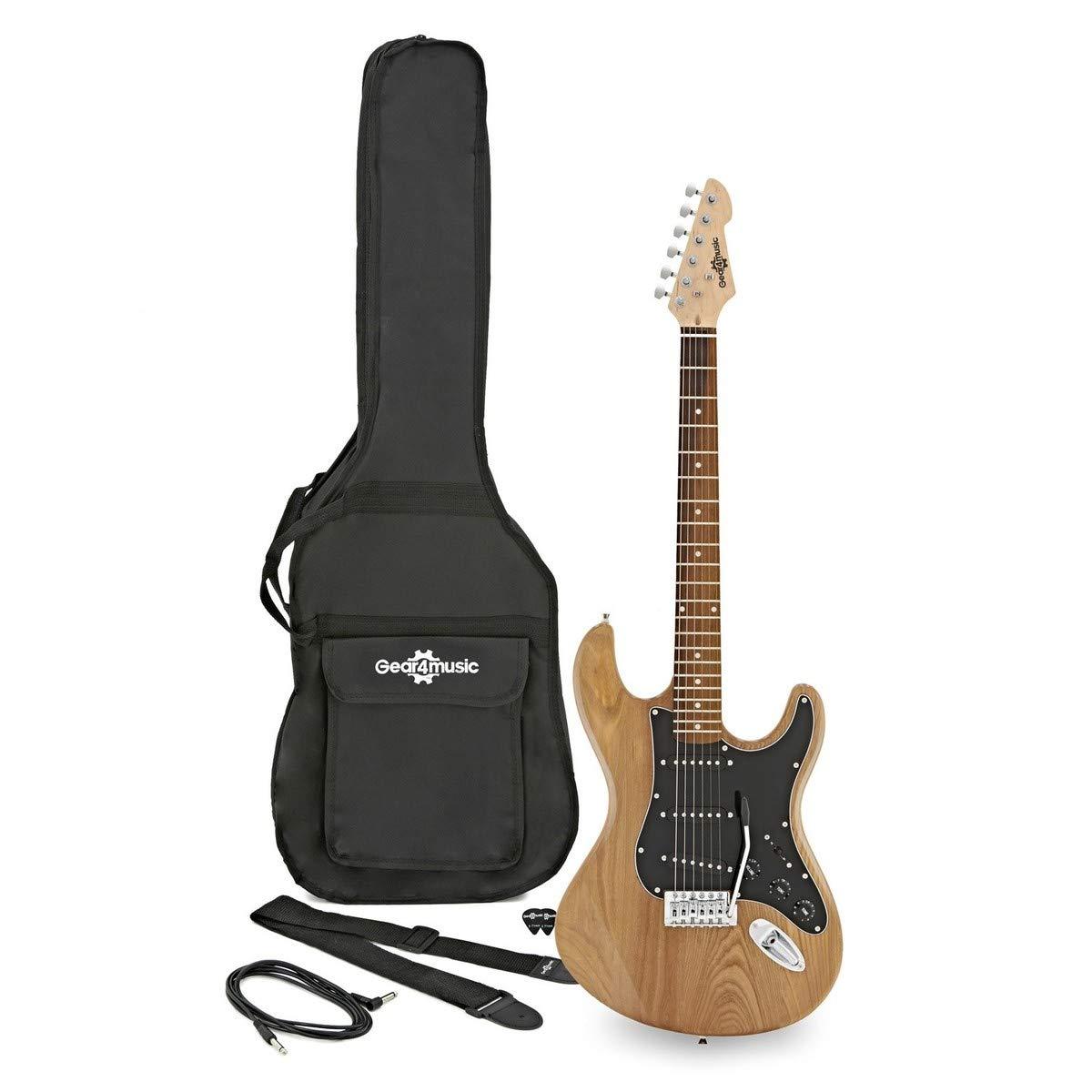 LA II Guitarra Eléctrica SSS de Gear4music Natural: Amazon.es ...