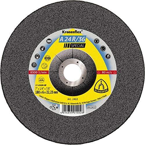 KLINGSPOR 2830A 2830 A 24 R 36 Schruppscheiben 125 x 6 x 22,23 mm gekröpft Inhalt: 10 Stück