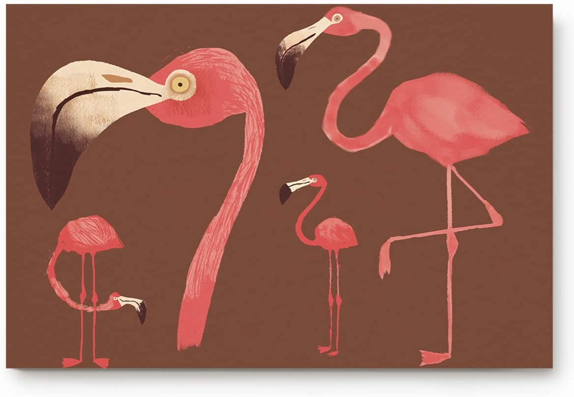 Flamingo Welcome Door Mat Rug Welcome Doormat 23.6 x15.7inch