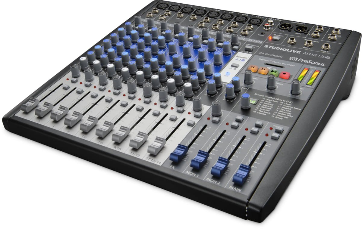 PreSonus StudioLive AR12 USB 14-Channel hybrid Performance and Recording Mixer