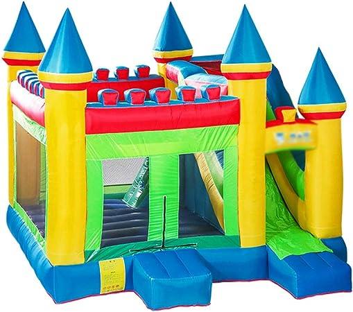 Castillos inflables Trampolín Inflable Grande Al Aire Libre Parque Infantil Tobogán para Niños Equipo De Diversión De Jardín De Infantes (Color : Orange, Size : 320x380x410cm): Amazon.es: Hogar