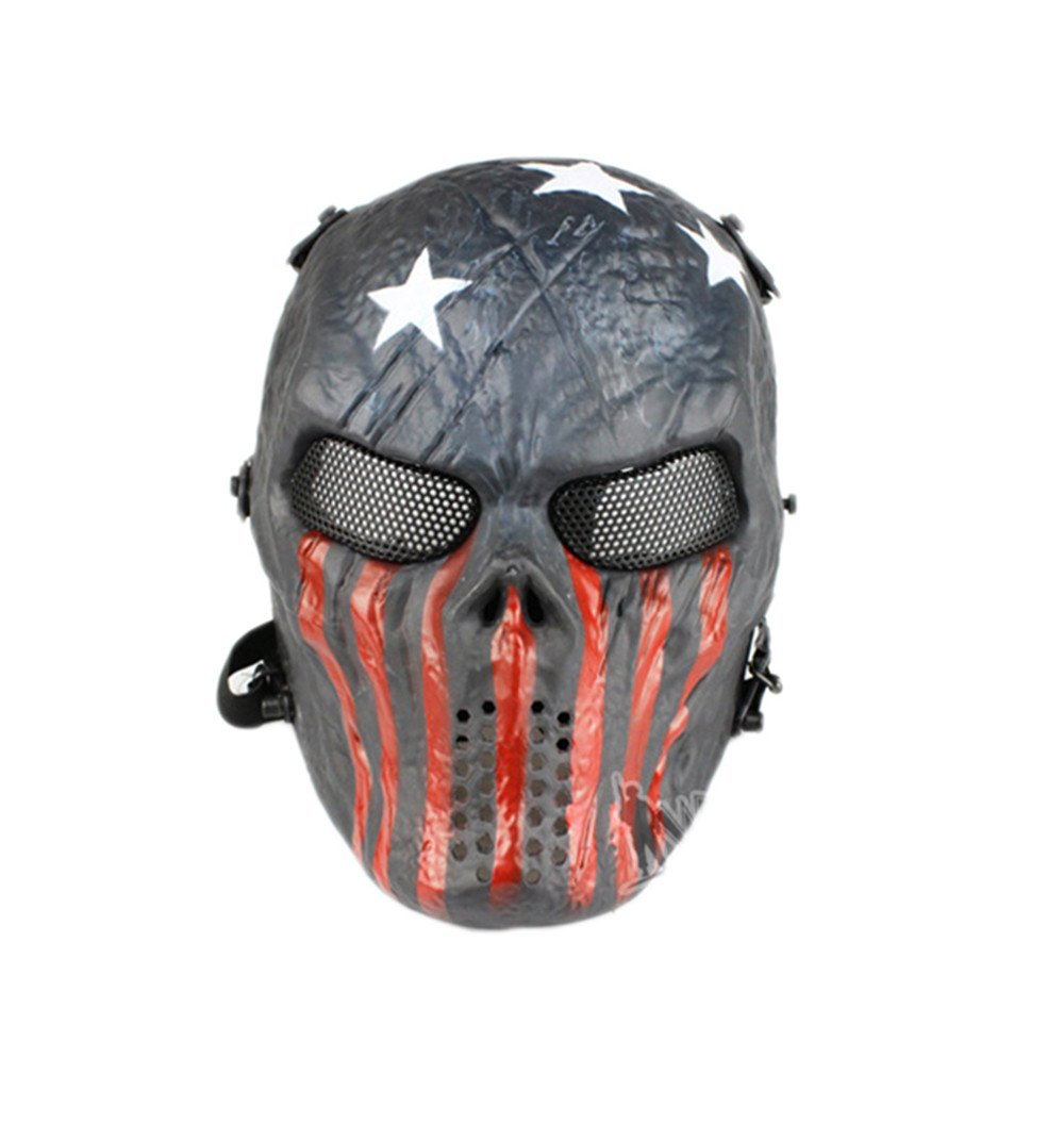 Cuidress Paintball Full Face Mask Army Games Mesh Mask for Halloween Cosplay Party Decor