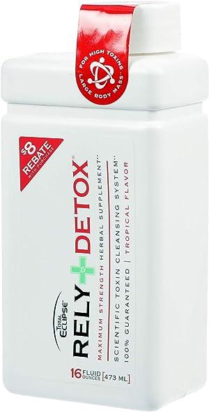 Total Eclipse Detox Cleanse, Same-Day Detox Drink, Tropical Flavor, 16 Fl Oz